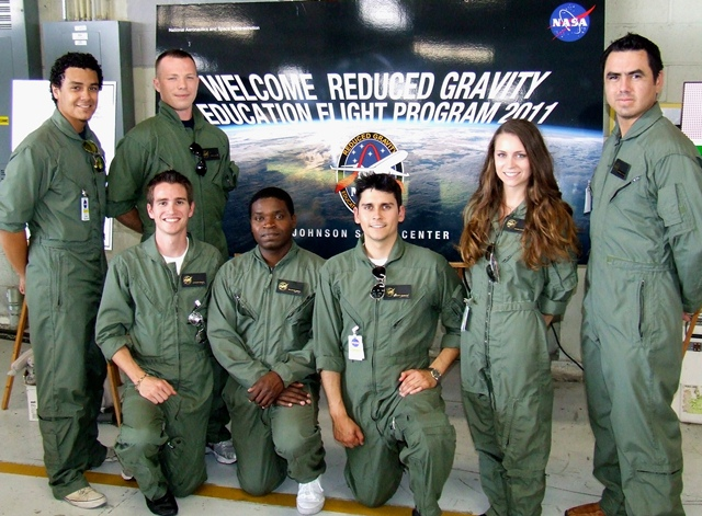LCOE Students in NASA's Reduced Gravity Program 2011