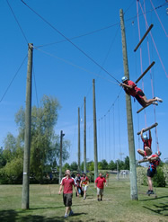 Lyles College of Engineering Students at the Campus Ropes Course