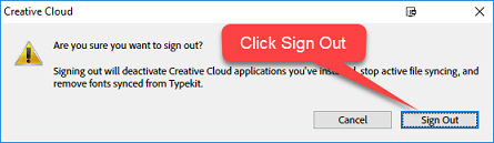 Adobe creative cloud sign in sign out  ⛔ OIT Knowledge Base
