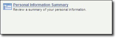 My Fresno State My Personal Information Summary Link Image