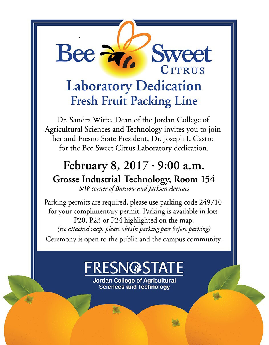 Bee Sweet Citrus Fresh Fruit Packing Line Laboratory Dedication