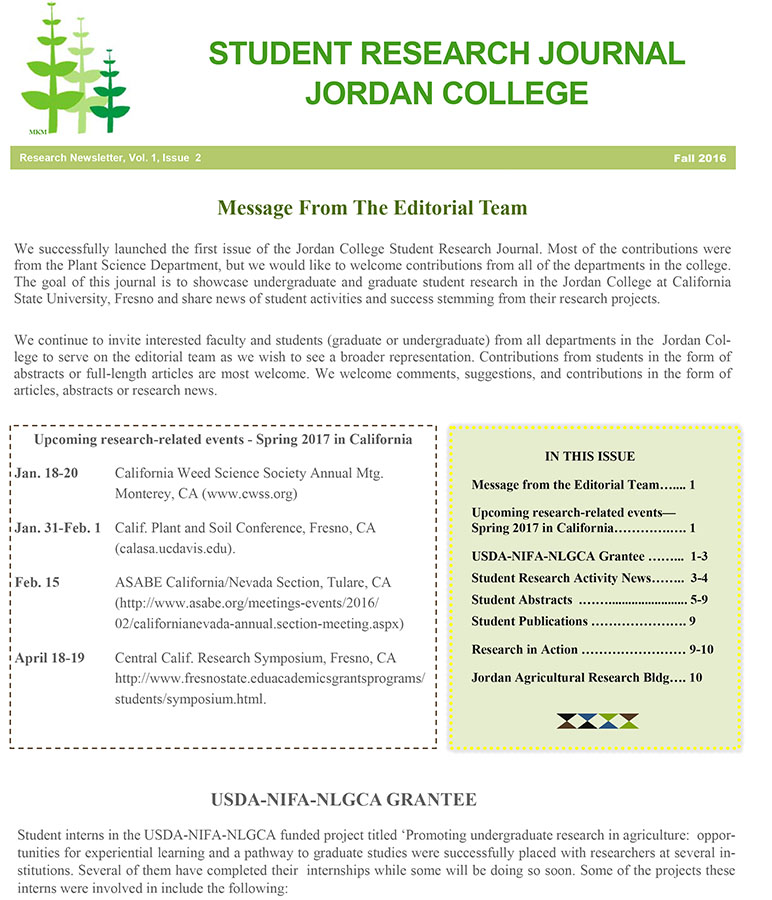 Student Research Jounral Fall 2016 page 1