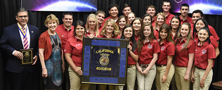 President Castro, Dean Witte and FFA Convention planning committee