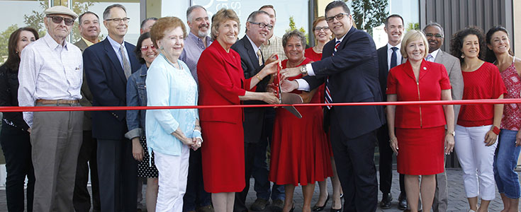 Jordan Ag Research Center ribbon-cutting