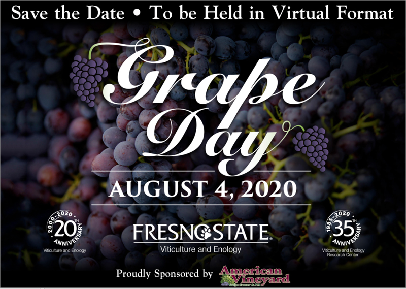 2020 Grape Day Save the Date image